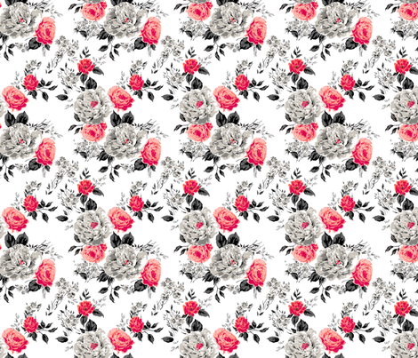 Red Flower fabric by polina_vaschenko on Spoonflower - custom fabric