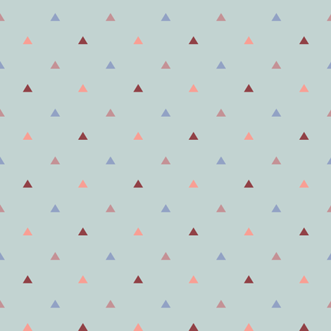 Small Pyramids / Dusk Blue fabric by kimsa on Spoonflower - custom fabric
