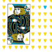 king of hearts - blue yellow