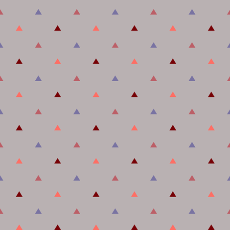 Small Pyramids / Lavender grey fabric by kimsa on Spoonflower - custom fabric
