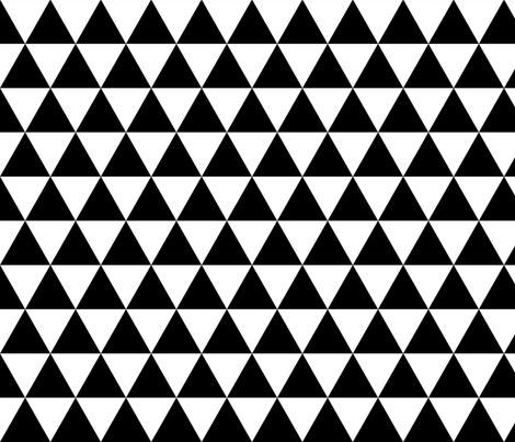 Black & White Triangles fabric by kimsa on Spoonflower - custom fabric