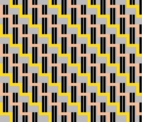 urban stairs - yellow, almond, black, gray fabric by gingerme on Spoonflower - custom fabric