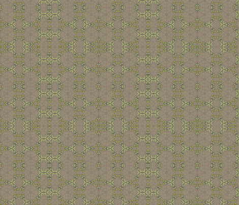 Peony Series Chain Mail Leaves fabric by wren_leyland on Spoonflower - custom fabric