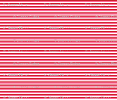 Thin Stripes - Red, pink and white