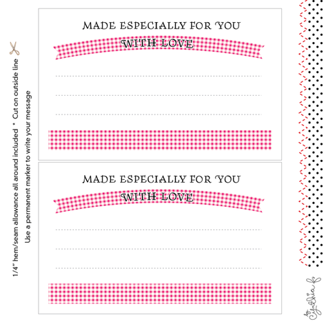Quilt Label: Made Especially For You, Pink Gingham