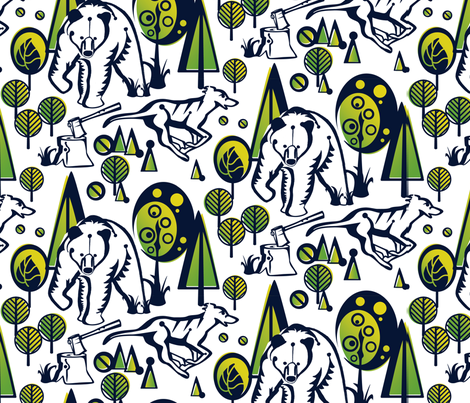 Woodland Drama fabric by samossie on Spoonflower - custom fabric