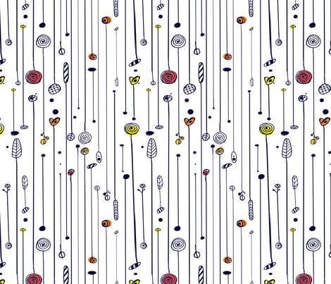 Autumn Trees fabric by samossie on Spoonflower - custom fabric