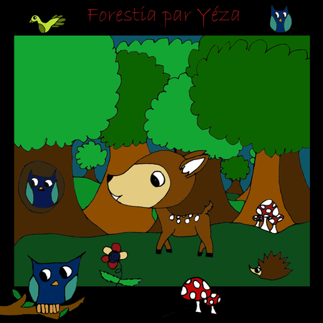 forestia_par_yeza_deco1 fabric by nelyram on Spoonflower - custom fabric