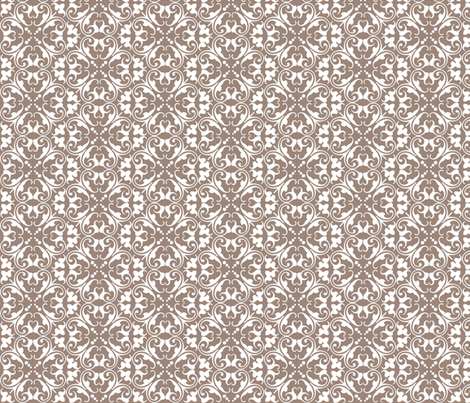 lizzie mocha fabric by lilbirdfly on Spoonflower - custom fabric