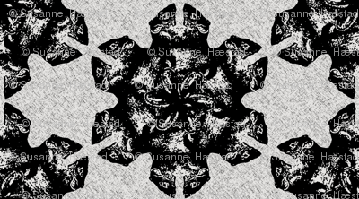 flower rats black/white