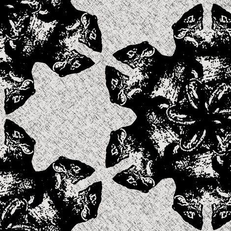 flower rats black/white fabric by susiprint on Spoonflower - custom fabric