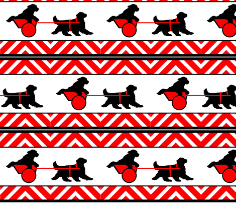 newf_carting_ fabric fabric by dogdaze_ on Spoonflower - custom fabric