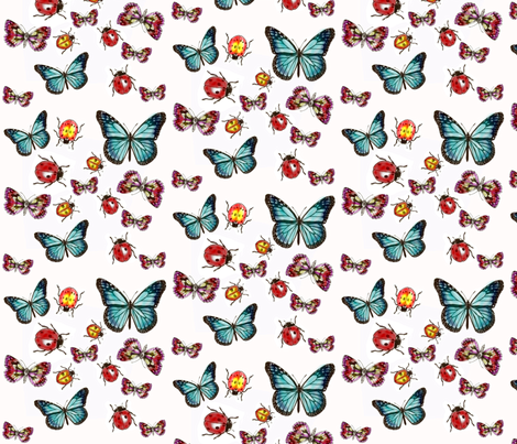 butterflies and bugs fabric by elizabemmenswilson on Spoonflower - custom fabric