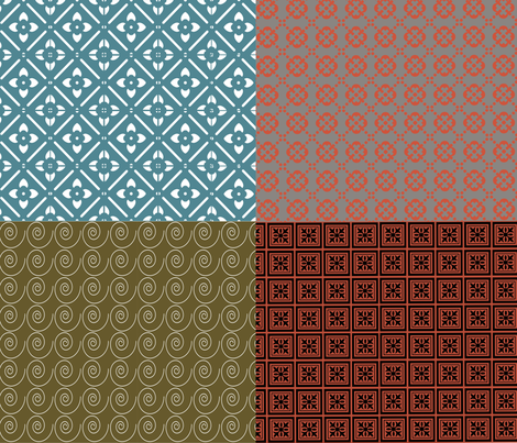 Fat Quarter Set 1 fabric by tulsa_gal on Spoonflower - custom fabric
