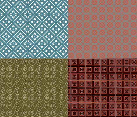 Fat Quarter Set 1 fabric by tulsa_gal on Spoonflower - custom fabric