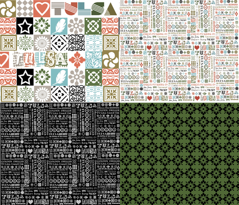 Fat Quarter Set 2 fabric by tulsa_gal on Spoonflower - custom fabric