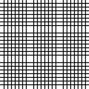 Black and white plaid