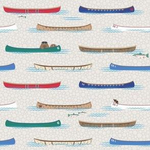 Lake Canoe in Daytime