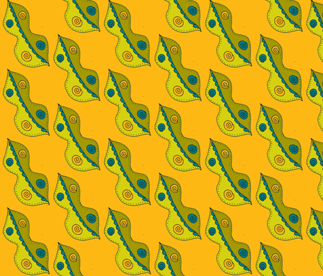 funky peas olive fabric by dnbmama on Spoonflower - custom fabric