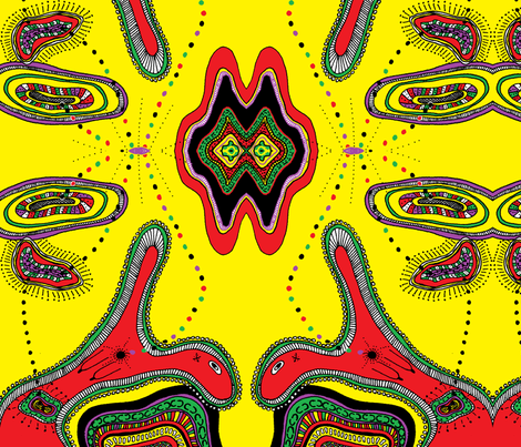 cropped_delight_paint_yellow fabric by g-mana on Spoonflower - custom fabric