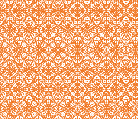 lizzie orange fabric by lilbirdfly on Spoonflower - custom fabric