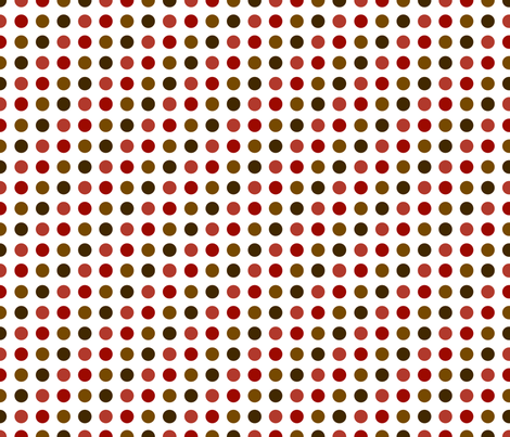 Earthtone Dots fabric by melhales on Spoonflower - custom fabric