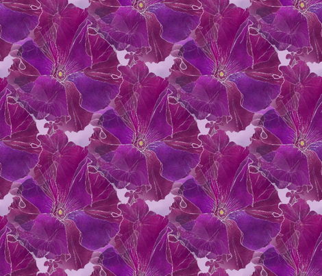 Purple Petunias-21x18 fabric by missourah_gal on Spoonflower - custom fabric