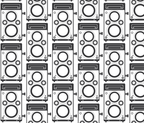 Gray Twin Lens Reflex fabric by audreyclayton on Spoonflower - custom fabric