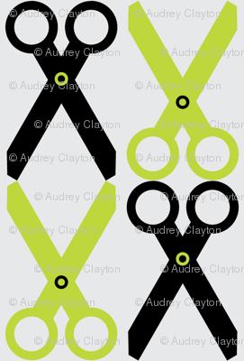 Black/Lime Scissors