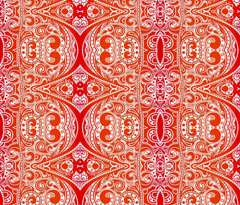 Tangerine Dream fabric by whimzwhirled on Spoonflower - custom fabric