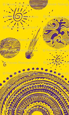 yellow purple highest heavens