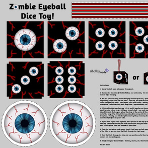 Zombie Eyeball Soft Toy Hanging Dice