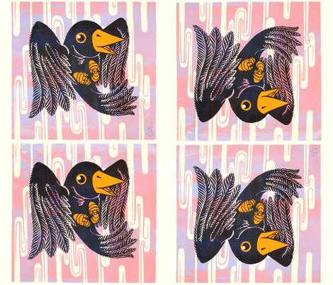 Mr B Cushion Print fabric by shiro on Spoonflower - custom fabric