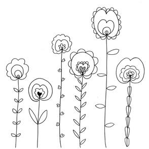 The Sprouting Garden - Monochrome