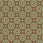 Tiny floral - brown/green