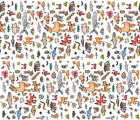 British Wildlife fabric by shiro on Spoonflower - custom fabric