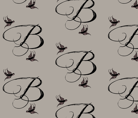 B is Bella fabric by keweenawchris on Spoonflower - custom fabric