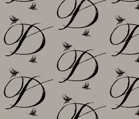 D is for Deedee fabric by keweenawchris on Spoonflower - custom fabric