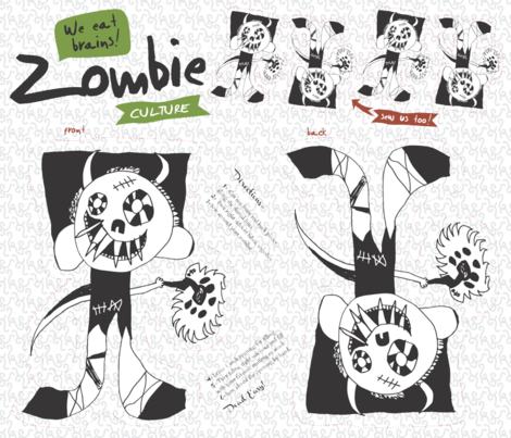 Zombie Culture fabric by tailorjane on Spoonflower - custom fabric