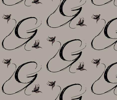 G is for Gio fabric by keweenawchris on Spoonflower - custom fabric