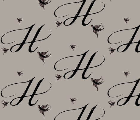 H is for Helen fabric by keweenawchris on Spoonflower - custom fabric