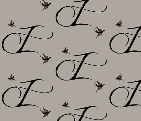 I is for Isadore fabric by keweenawchris on Spoonflower - custom fabric