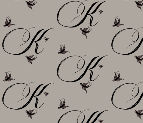 K is for Kelley fabric by keweenawchris on Spoonflower - custom fabric