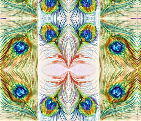 Peacock_2 fabric by tree_of_life on Spoonflower - custom fabric
