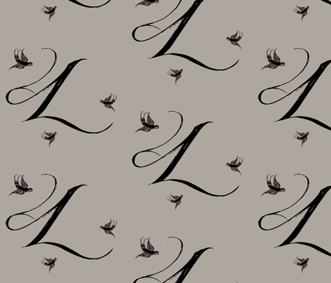 L is for Laura fabric by keweenawchris on Spoonflower - custom fabric