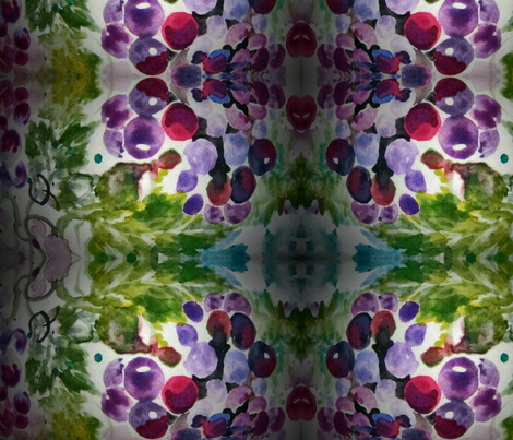 Grapes_Vignette fabric by tree_of_life on Spoonflower - custom fabric