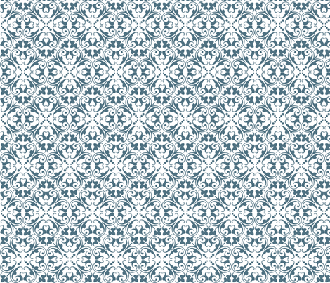lizzie blue fabric by lilbirdfly on Spoonflower - custom fabric
