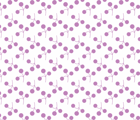 lilac berries on white fabric by christiem on Spoonflower - custom fabric