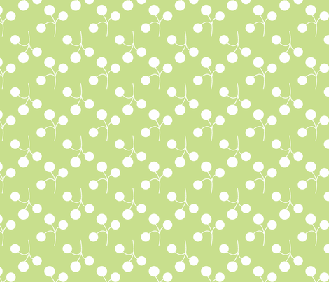 white on grass berries fabric by christiem on Spoonflower - custom fabric