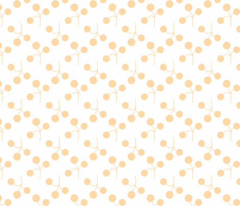 orange berries on white fabric by christiem on Spoonflower - custom fabric